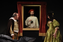Andy Gray, Michael Condron, Julie Lewis. The Miser. Lyric Theatre, 2010.